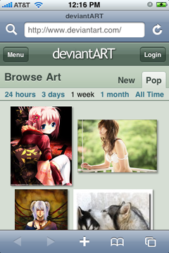 deviantART iPhone 1